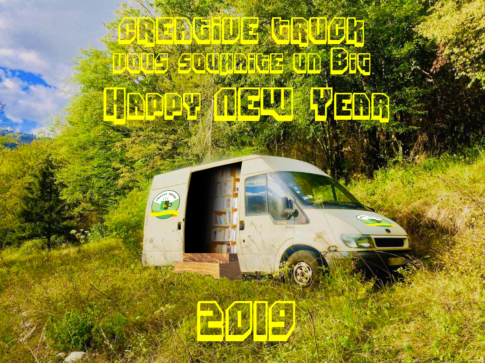 Creative Truck vous souhaite un Big Happy New Year 2019
